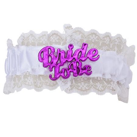 Lux Accessories White Bachelorette Party Bride to Be Garter Belt Party - Bachelorette Party Accesories
