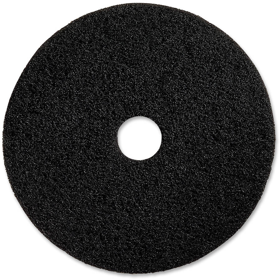 "Genuine Joe 13"" Black Floor Stripping Pad, 5 Pads"