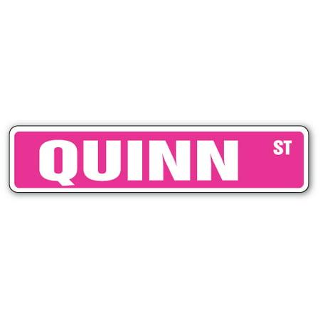 Quinn Street Sign Kids Room Childrens Name Gift Kid Child Boy Girl Wall Entry