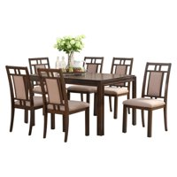 Thorton Parquet Wood 7 Piece Dining Set