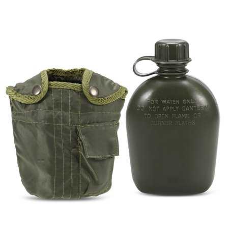 Outdoor Military Canteen Bottle Camping Hiking Backpacking Survival Water Bottle Kettle with