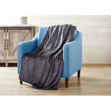 Better Homes And Gardens Velvet Plush Metallic Throw Blanket