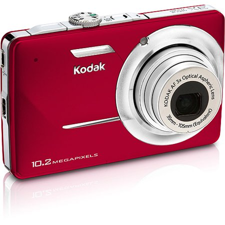 kodak easyshare m340 red 10 2 mp digital camera with 3x optical zoom