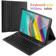 Topboutique For Samsung Galaxy Tab S5e 10.5 SM-720/T725 Detachable US Bluetooth Keyboard+Leather Case Set Magnetic Adsorption Bracket Tablet Case with Keyboard No Backlight (Black)