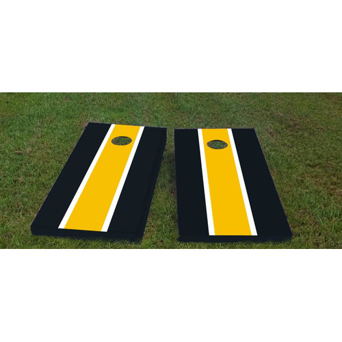 Custom Cornhole Boards Steelers Cornhole Game (Set of 2) by Custom Cornhole Boards