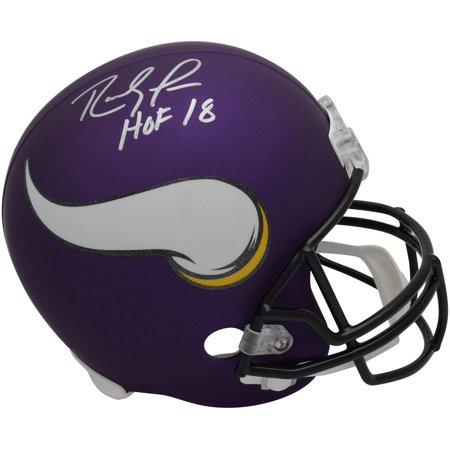 Randy Moss Minnesota Vikings Autographed Riddell Replica Helmet with