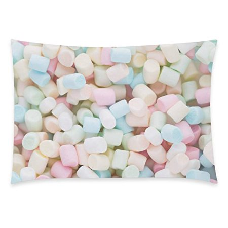 ZKGK Sweet Candy Home Decor, Colorful Jelly Beans Pillowcase 20 x 30 Inches,Pink Blue Yellow Marshmallow Soft Pillow Cover Case Shams Decorative - Yellow Jelly Beans
