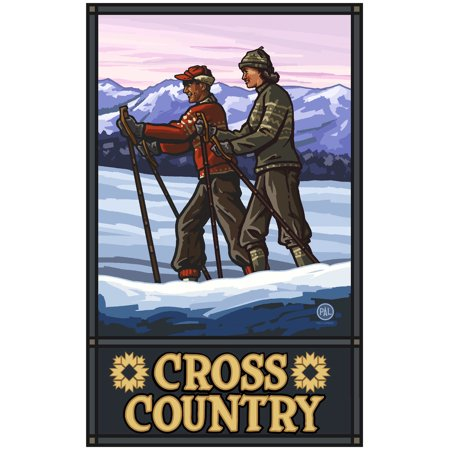 Cross Country Cross Country Skiers Travel Art Print Poster by Paul A. Lanquist (24