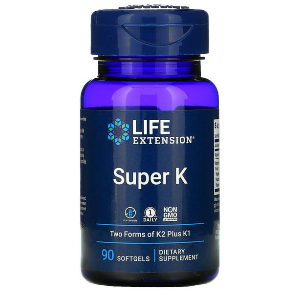 Life Extension Super K, 90 Softgels