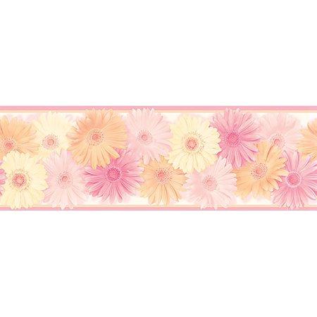 Brewster HAS83242B Becca Pink Daisy Chain Border Wallpaper