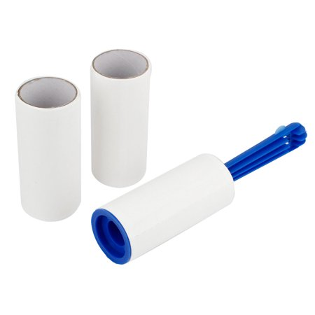 Unique Bargains 3 Pieces Blue Handle Pet Hair Dust Removal Self Adhesive Sticky Lint (Removal Roller)