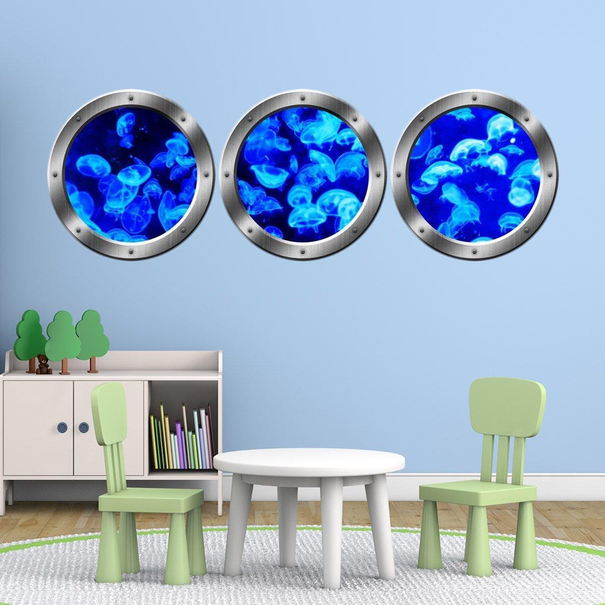 Vwaq Ocean Decals Animals Wall Decor Jellyfish Wall Sticker Sea Life Art Prints Vwaq Spw14 20 Diameter Silver Walmart Com Walmart Com