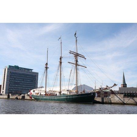 Canvas Print Port City ?â?Ñrhus Ship Great Marina Boat Stretched Canvas 10 x 14 - Party City Marina