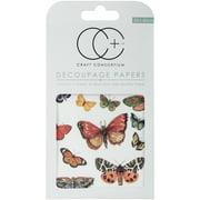 """Flutter Of Butterflies - Craft Consortium Decoupage Papers 13.75""""X15.75"""" 3/Pkg"""