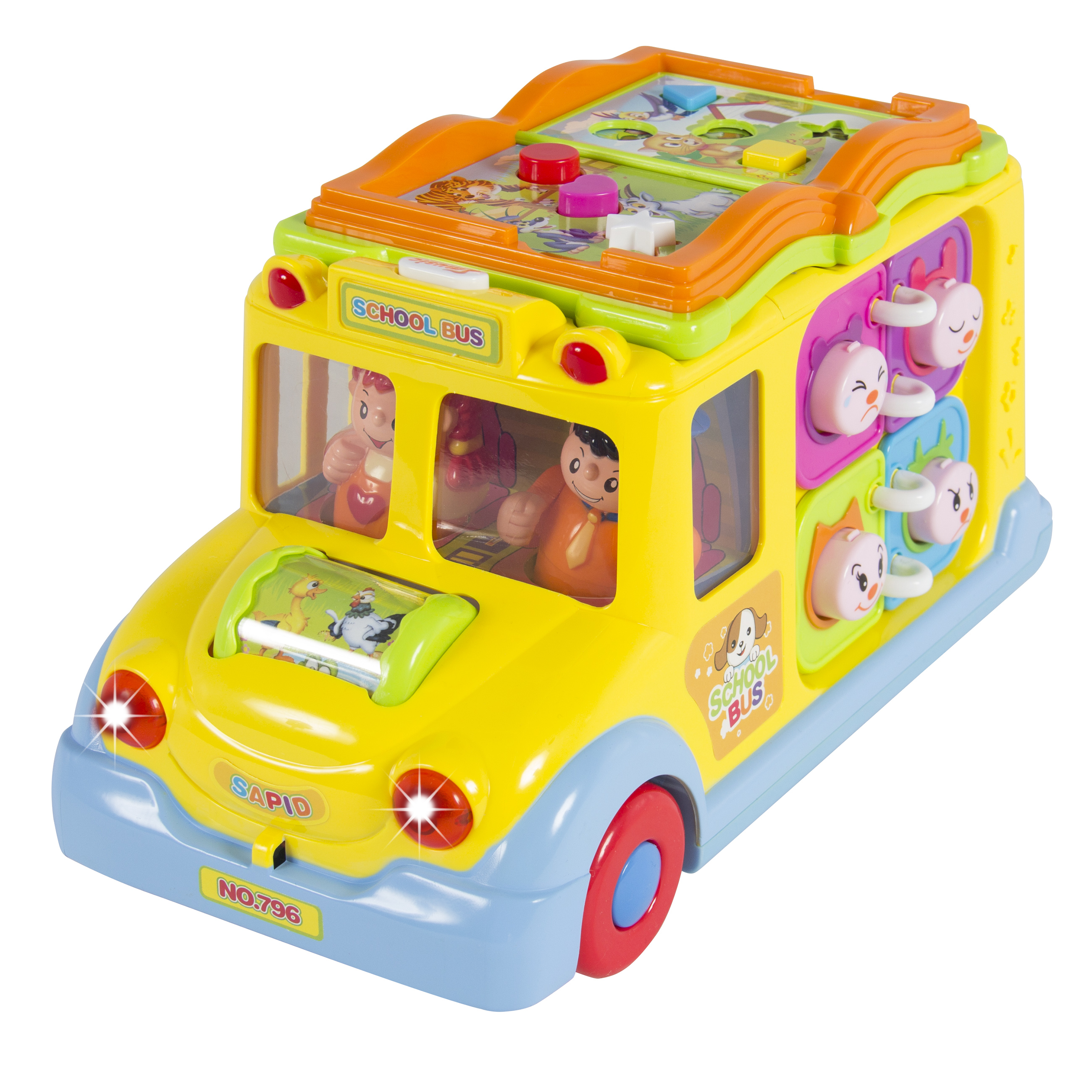 Best Choice Products Bump And Go Toy Educational School Bus W