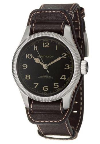 Khaki Field Pioneer Men's Manual Wind Watch H60419533. 100% AUTHENTIC