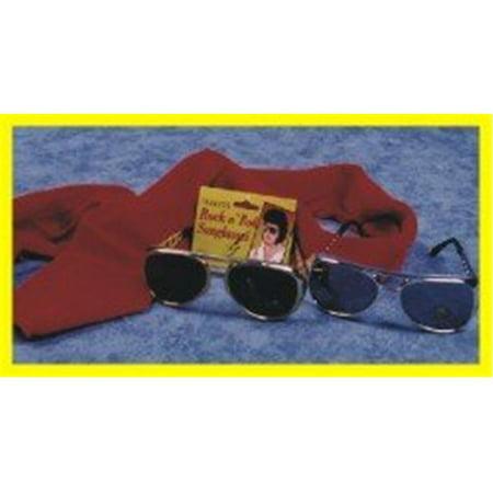 Alexander Costume 48-076-G Elvis Glasses, Gold](Elvis Style Glasses)