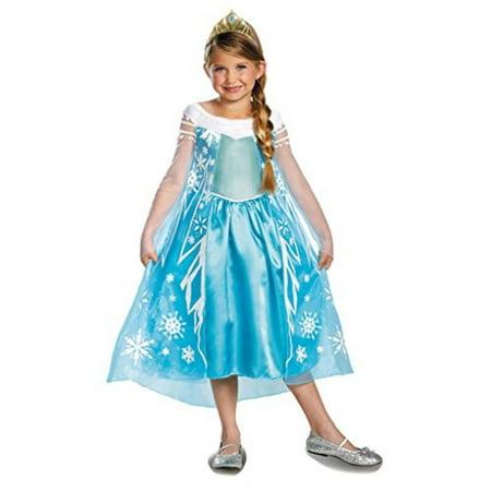 Disguise Disney's Frozen Elsa Deluxe Girl's Costume, 7-8](Ladies Elsa Costume)