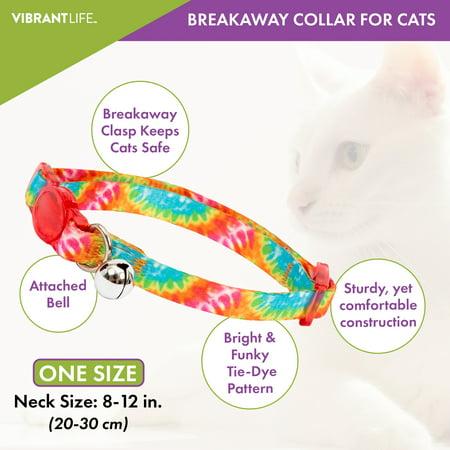 Tie Dye Indigo Blue Dots Breakaway Cat Collar for Boy Girl