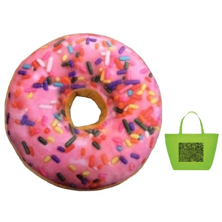 2 Piece Tote - Emoji Sprinkle Donut Scented Pillow & Tote - 2 Piece Gift Set Multi-pack
