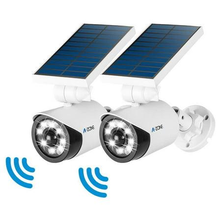 Solar Motion Sensor Light Outdoor 800lumens 8 Led Spotlight 5 Watt Lights Ip66 Waterproof Wireless Flood For Porch Garden