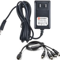 PKPOWER 6.6FT Cable 12VDC 2A 2000mA Power Supply for Security Camera Power Supply Adapter & Splitter QSee Zmodo LOREX