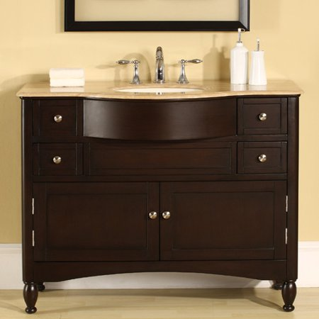 Silkroad Exclusive Addison Single Bathroom Vanity Set - Single bathroom vanity cabinets