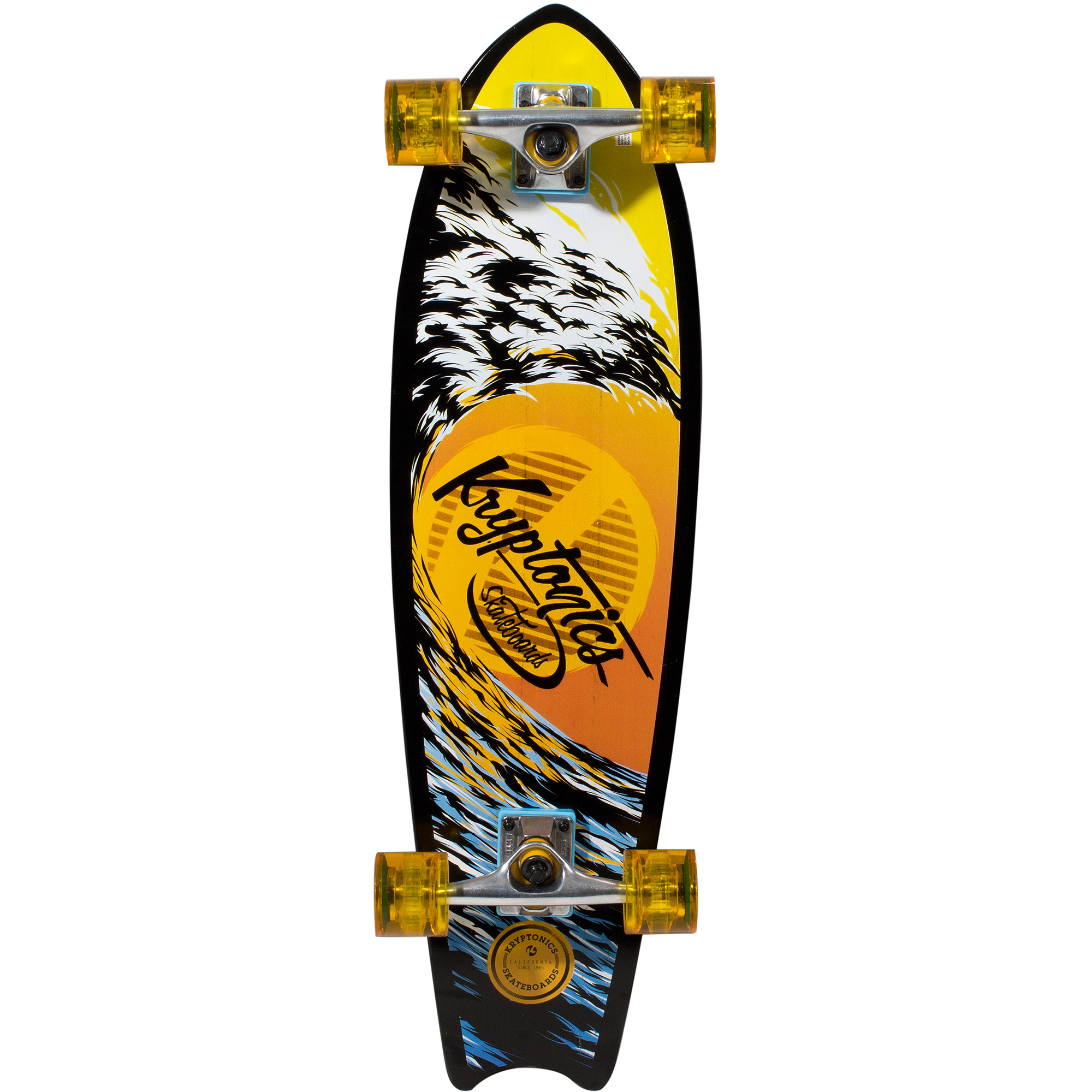 "Kryptonics 32"" Mini Longboard Complete Skateboard"