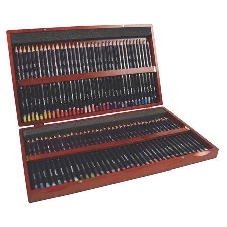 Derwent Studio Colored Pencils, Wooden Box, 72-Count (32199)