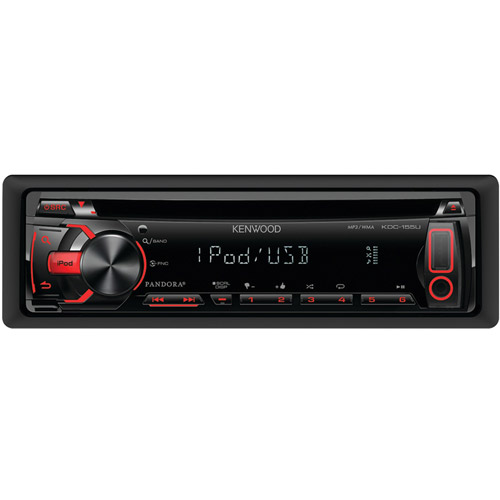KENWOOD KDC-155U Single-DIN In-Dash CD Receiver