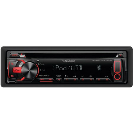new kenwood kdc-155u din in dash car cd/mp3 player usb aux ipod receiver  stereo - walmart com