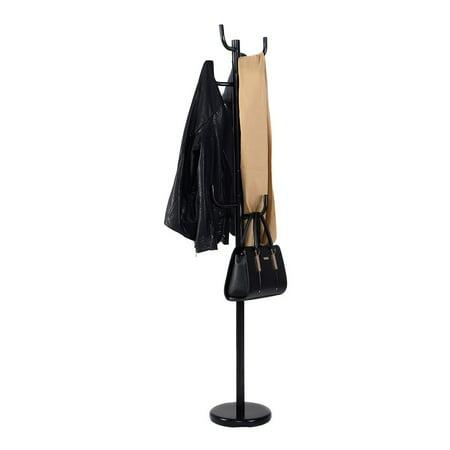 Metal Coat Rack Hat Stand Tree Hanger Hall Umbrella Holder Hooks Black Coat Umbrella Hat Hanger Stand