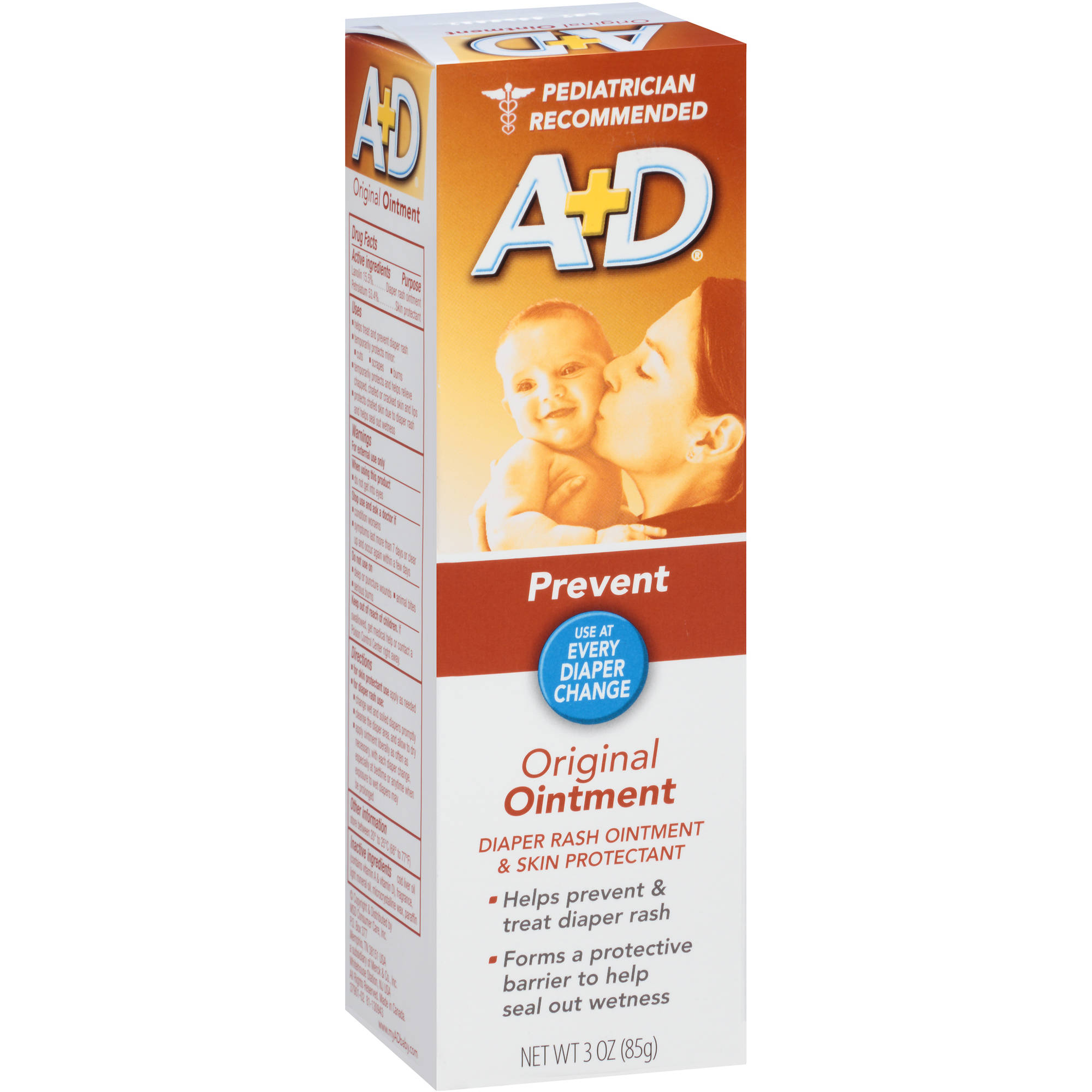 A+D Original Diaper Rash Ointment & Skin Protectant, 3 oz