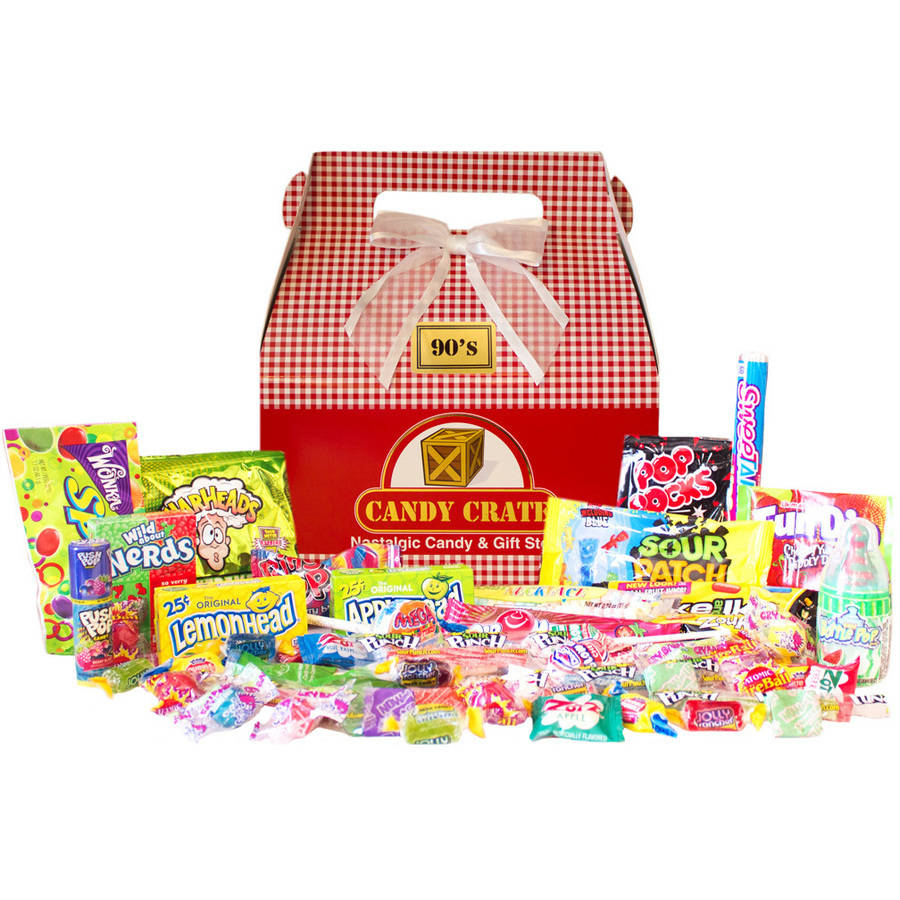 Candy Crate Holiday 1990s Retro Candy Gift Box