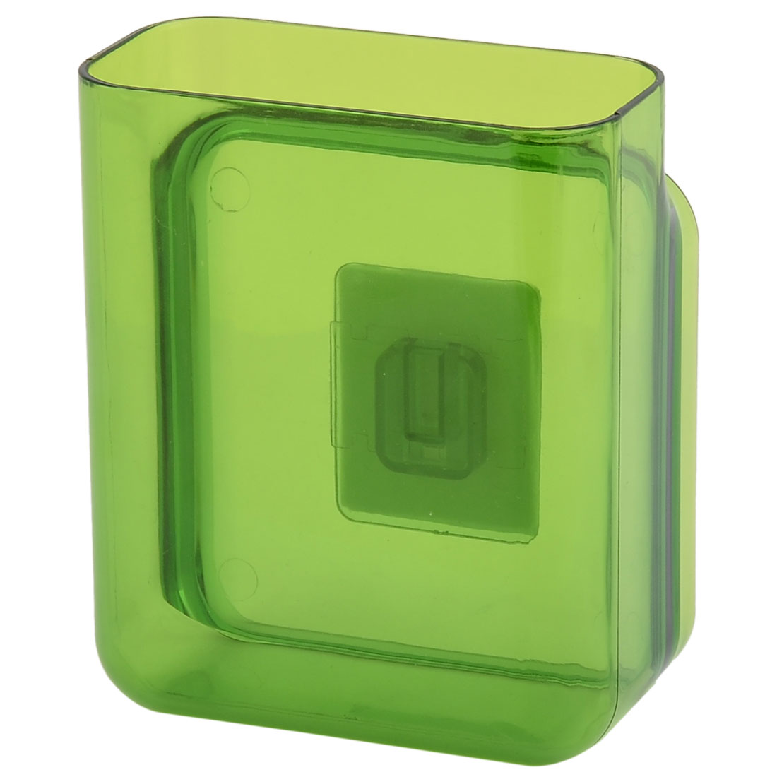 Home Plastic Self-Adhesive Comb Toothbrush Storage Box Case Organizer Green