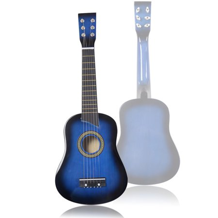 ghp 25 blue kids beginners basswood body steel strings acoustic guitar with pick. Black Bedroom Furniture Sets. Home Design Ideas