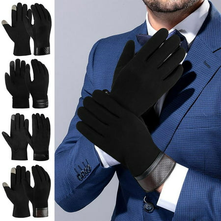 Touch Screen Gloves for Men-Allcaca Men Touch Screen Gloves Cold Weather Windproof Thermal Glove for Smartphone Texting Hand Warmers for Mens' Cycling and (Cycling Warmers)
