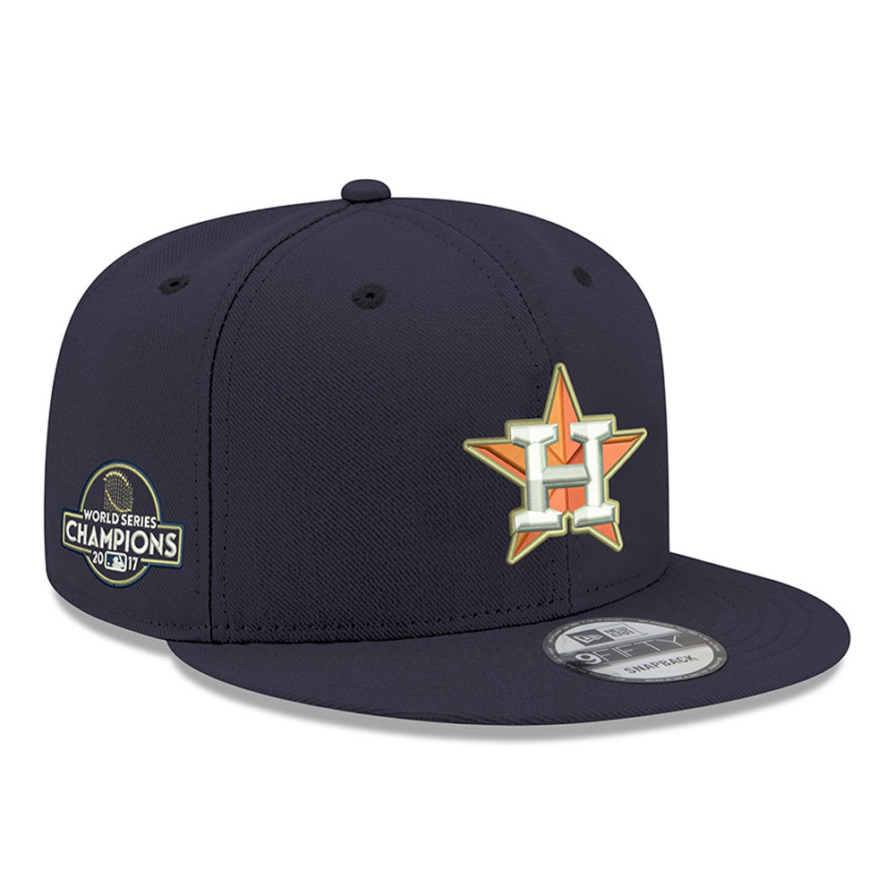 Houston Astros New Era 2017 World Series Champions Trophy 9FIFTY Adjustable Snapback Hat - Navy - OSFA