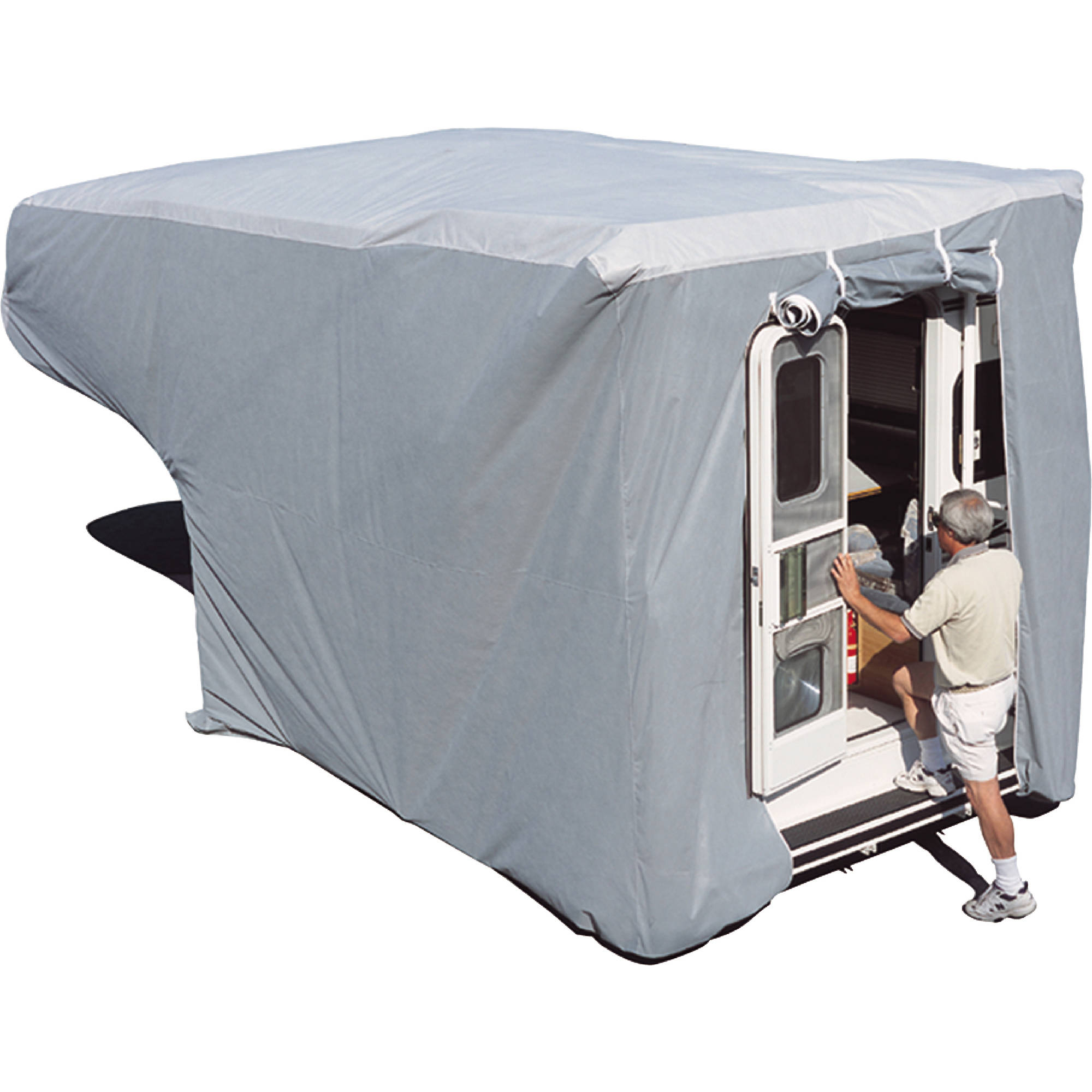 ADCO Truck Camper Cover, Grey SFS AquaShed Top/Grey Polypropylene Sides