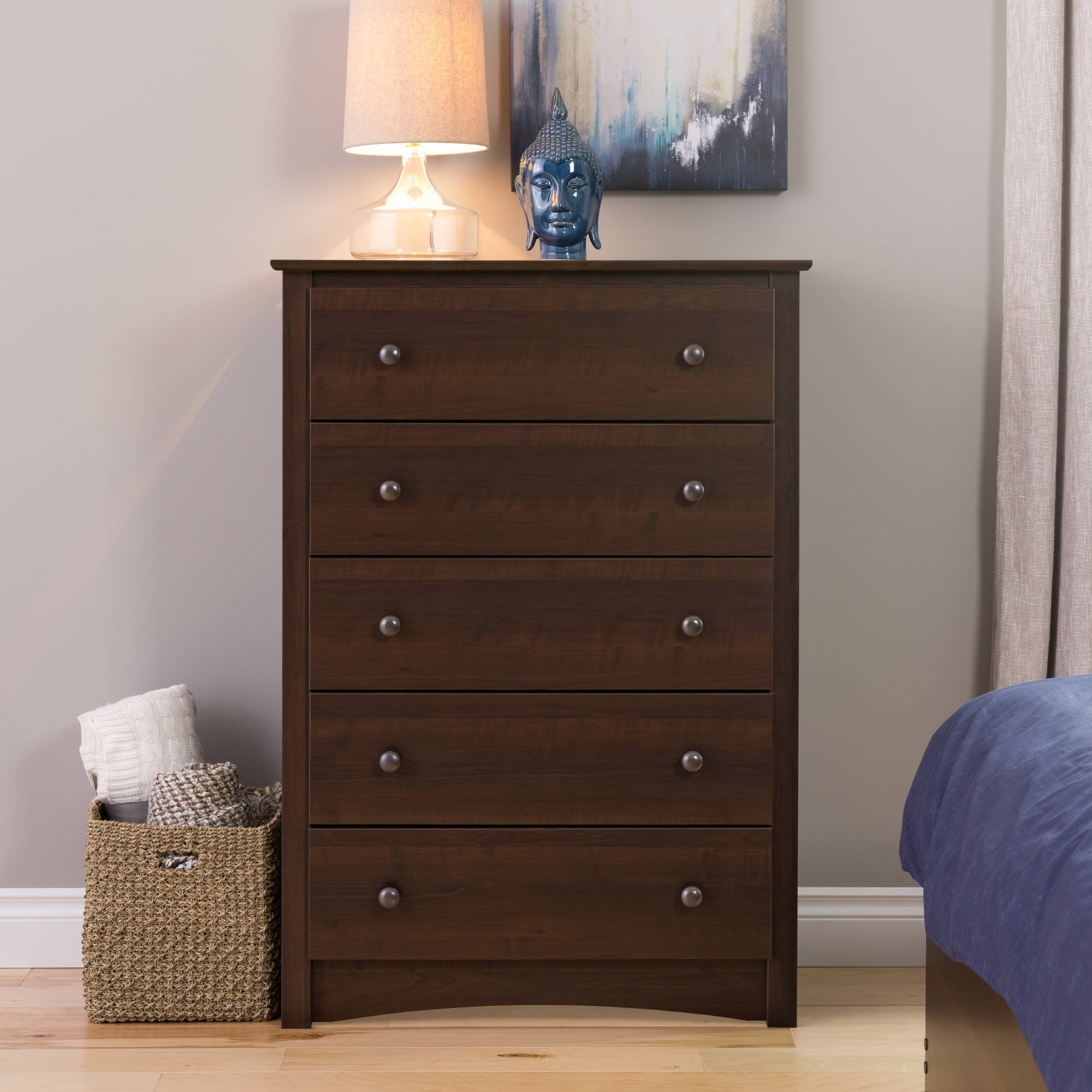 PrePac Edenvale 5-Drawer Dresser, Espresso (Box 1 of 2) by Prepac
