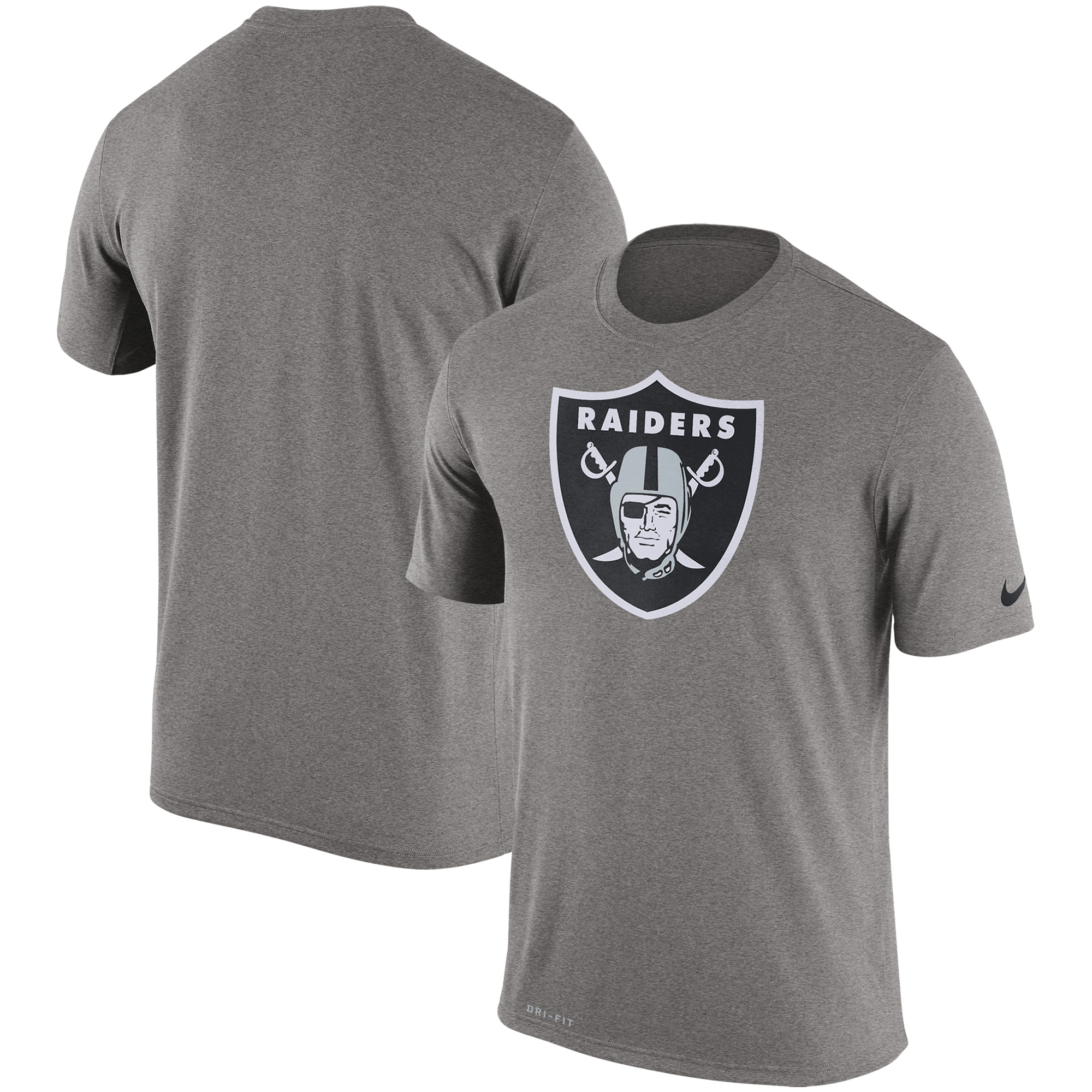 Oakland Raiders Nike Legend Performance Logo Essential 3 T-Shirt - Charcoal