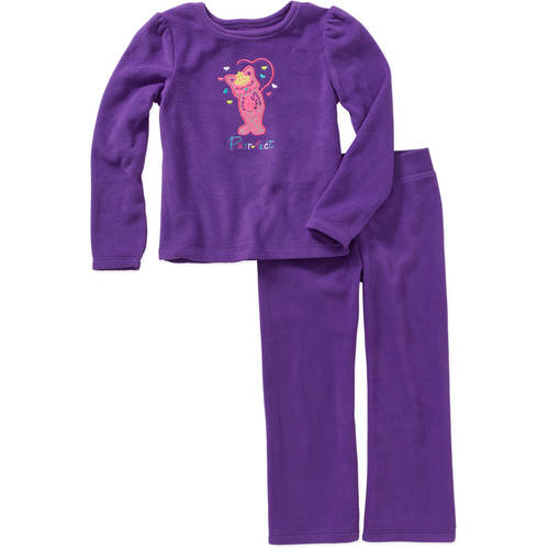 365 Kids from Garanimals Girls' Applique Polar Top and Solid Polar Bottom Outfit Set