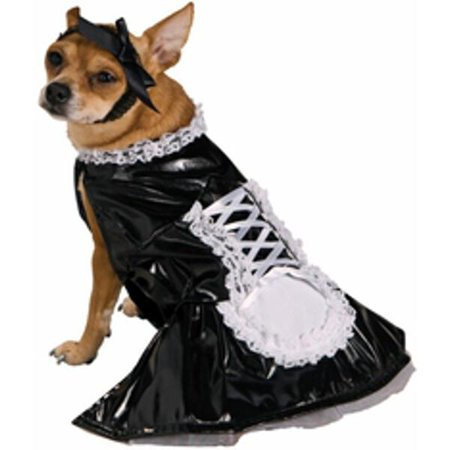 Image of French Maid Dog Costume~Small 10-12 / Black