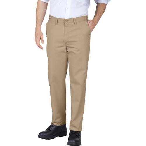 Genuine Dickies Men's Slim Fit Flat Front Pants