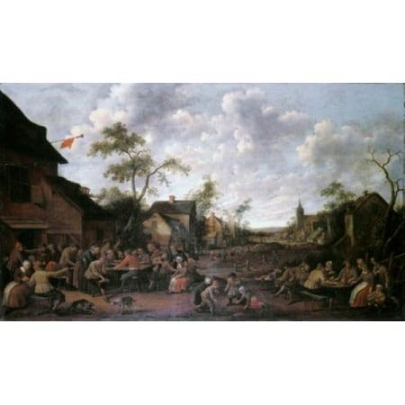Peasants Feasting On A Village Street Joost Cornelisz Droochsloot Poster Print](Peasant Boy)