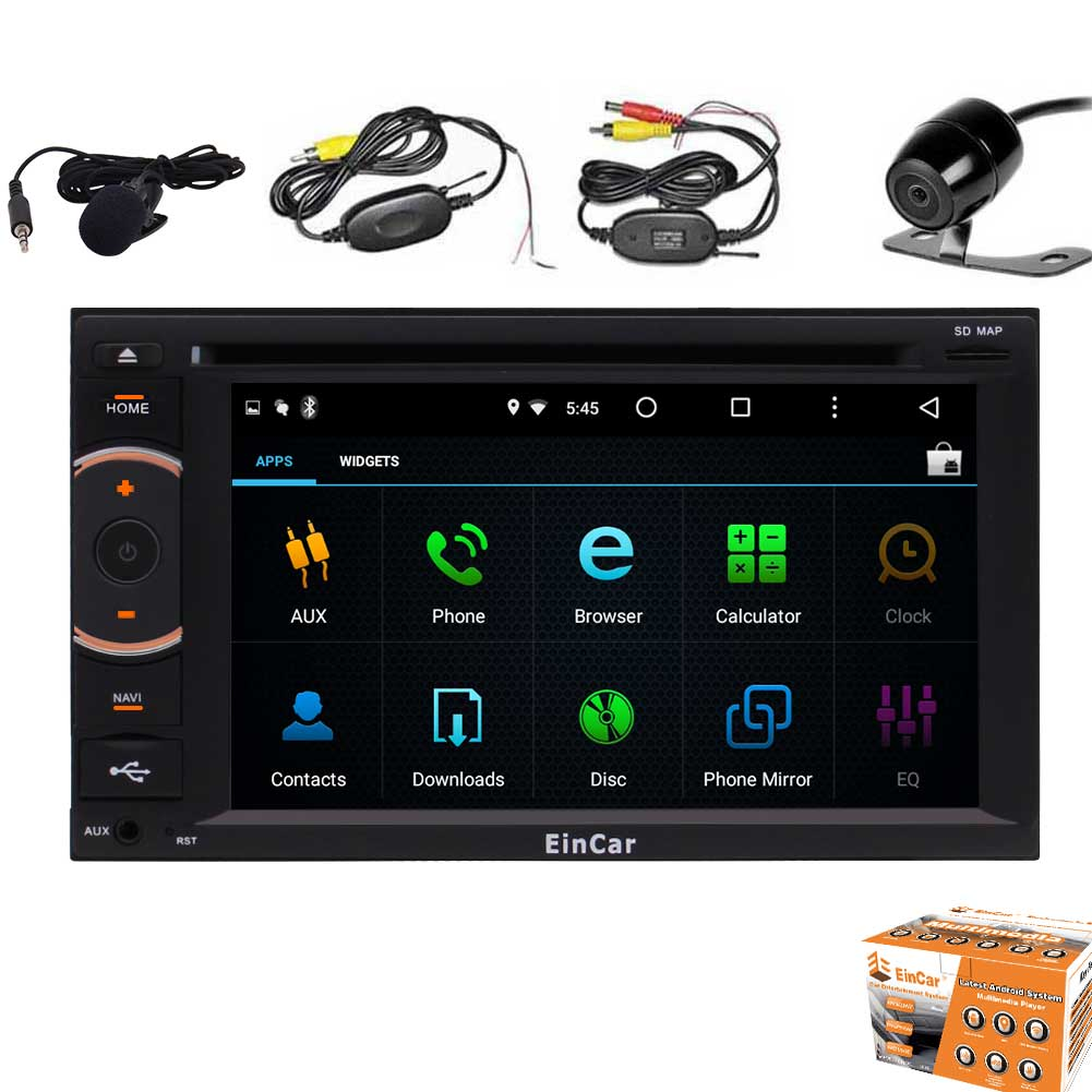 EinCar Double Din 6.2'' Android 5.1 Car Stereo HD Capacitive Touch Screen In Dash Stereo with GPS Navigation... by EinCar