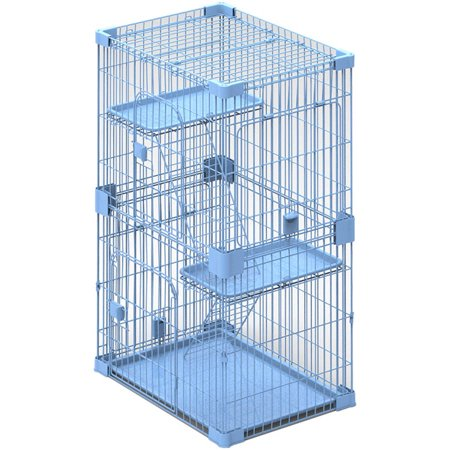 Petpals Wirehouse 2levels Sky Blue 2 Levels Cat Cage Walmartcom