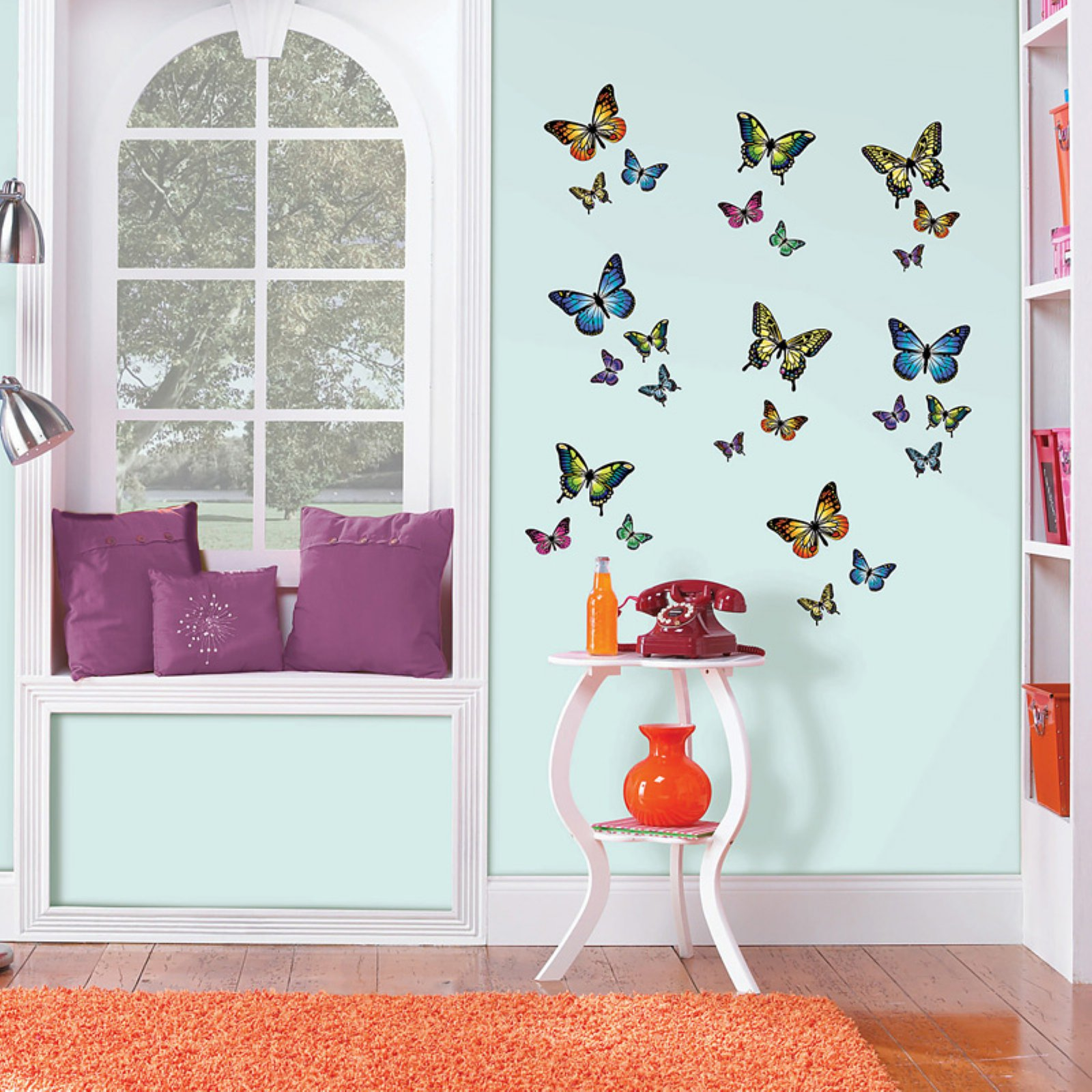 Wall Pops Butterflies (27 Pc) Wall Decals