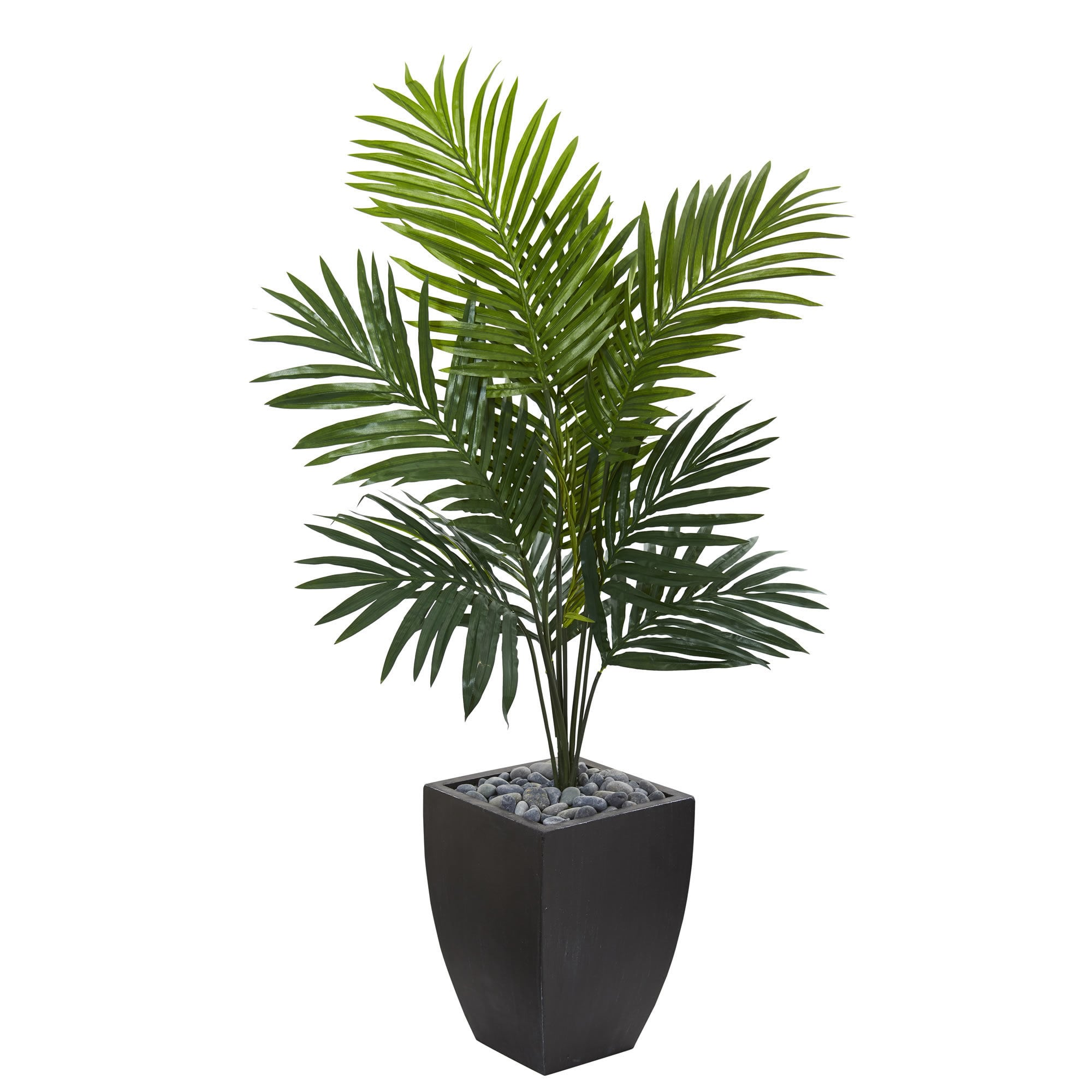 Kentia Palm Artificial Tree with Black Wash Planter