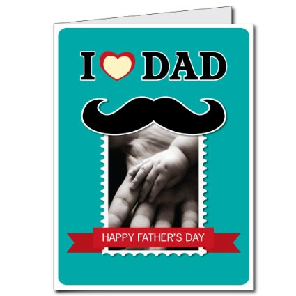 2'x3' Giant Father's Day Card with Envelope - I Love Dad Design